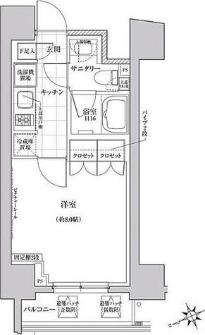 クレヴィアリグゼ三軒茶屋 / Cタイプ(25.02㎡) 部屋画像1