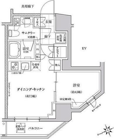 クレヴィアリグゼ三軒茶屋 / Aタイプ(29.76㎡) 部屋画像1