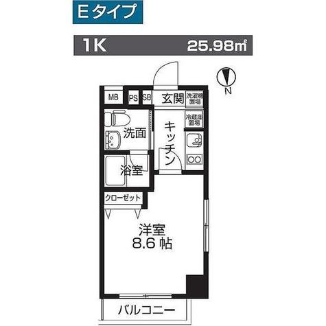 レオーネ板橋本町 / Eタイプ 部屋画像1