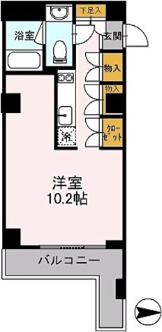 カスタリア目黒鷹番 / Iタイプ(31.42㎡) 部屋画像1