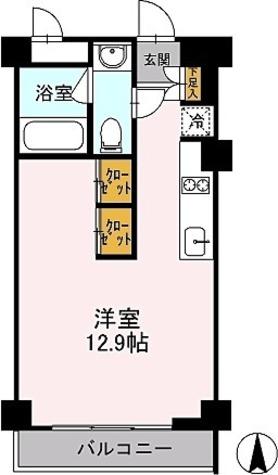 カスタリア目黒鷹番 / Bタイプ(30.64㎡) 部屋画像1