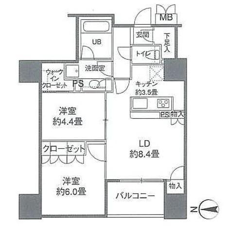 カスタリアタワー品川シーサイド / 60Bタイプ(55.36㎡) 部屋画像1