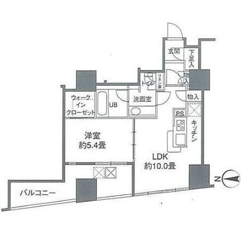 カスタリアタワー品川シーサイド / 40Bタイプ(40.42㎡) 部屋画像1