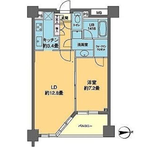 カスタリア高輪(旧ニューシティレジデンス高輪) / 1LDK(52.89㎡) 部屋画像1