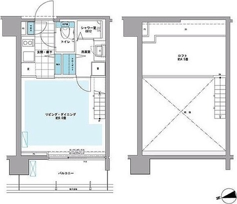 プライムアーバン芝浦LOFT(旧アーバンステージ芝浦LOFT・Cove Shibaura LOFT) / Bタイプ(25.74㎡) 部屋画像1