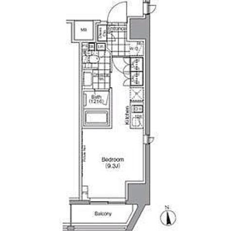 パークハビオ秋葉原 / 1R(25.30㎡) 部屋画像1