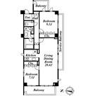 南麻布デュープレックスリズ / 2LDK(92.96㎡) 部屋画像1
