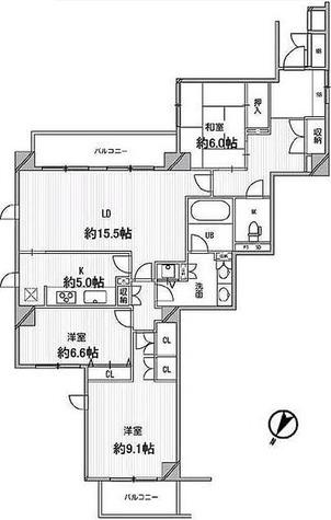 レックス宮前平 / 403 部屋画像1