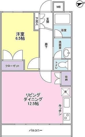 武蔵小杉グリーンコート / 1LDK(44.72㎡) 部屋画像1
