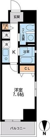 フェニックスレジデンス千葉中央 / E4タイプ(25.07㎡) 部屋画像1