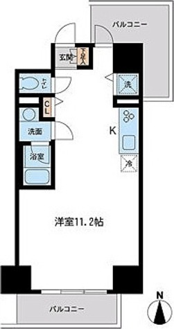 フェニックスレジデンス千葉中央 / D2タイプ(40.15㎡) 部屋画像1