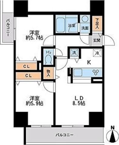 フェニックスレジデンス千葉中央 / Aタイプ(53.30㎡) 部屋画像1