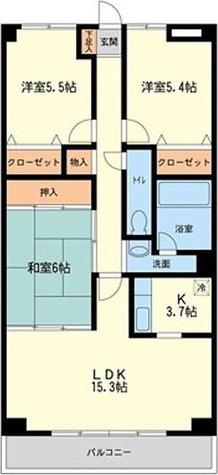 CASSIA八千代緑が丘 / A1タイプ(75.27㎡) 部屋画像1