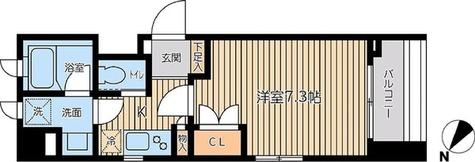 KWレジデンス森下 / Aタイプ(25.95㎡) 部屋画像1