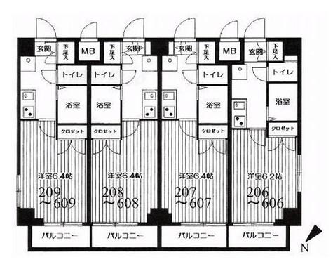 HF武蔵小山レジデンス(旧シングルレジデンス武蔵小山) / 1K(20.18㎡) 部屋画像1