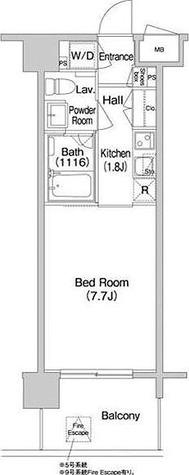 コンフォリア南砂町 / 1K(24.78㎡) 部屋画像1