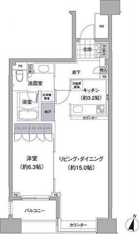 アビティ目黒 / 1LDK(58.74) 部屋画像1