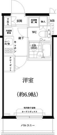 スパシエ八王子クレストタワー / 1K(20.88㎡) 部屋画像1