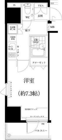 スパシエ八王子クレストタワー / 1K(20.60㎡) 部屋画像1