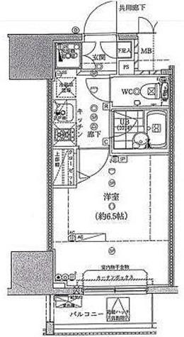 スパシエ八王子クレストタワー / 1K(20.18㎡) 部屋画像1