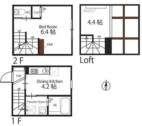 ハーミットクラブハウス上野毛 / 1階 部屋画像1
