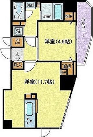 プレスタイル入谷 / Eタイプ(40.61㎡) 部屋画像1