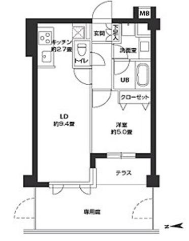カスタリア自由が丘 / 1LDK(40.09㎡) 部屋画像1