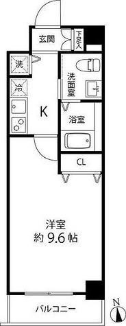 蓮根レジデンス / 1K(29.70㎡) 部屋画像1