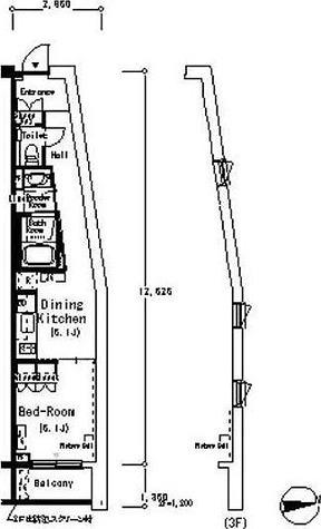 ルフォンプログレ南麻布(旧レフィナード南麻布) / 1DK(32.19㎡) 部屋画像1