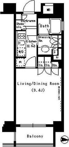 パークアクシス浜松町 / 1K(29.23㎡) 部屋画像1
