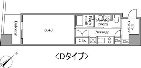レジディア恵比寿Ⅱ / 10A 部屋画像1