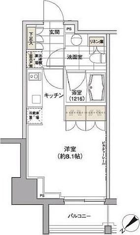 パークハビオ渋谷 / 1K(24.31㎡) 部屋画像1