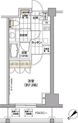 パークハビオ渋谷 / 1K(24.44㎡) 部屋画像1