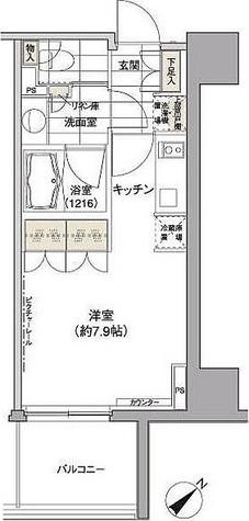 パークハビオ渋谷 / 2階 部屋画像1