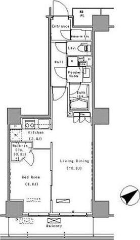 パークアクシス豊洲 (Park Axis豊洲) / 1LDK(47.31㎡) 部屋画像1