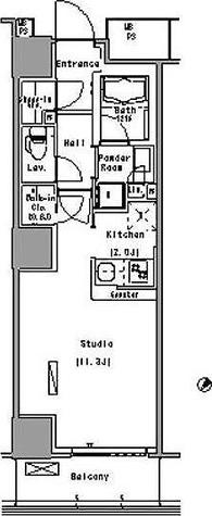 パークアクシス豊洲 (Park Axis豊洲) / 1K(35.61㎡) 部屋画像1