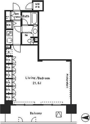パークアクシス四谷ステージ / 1R(51.62㎡) 部屋画像1