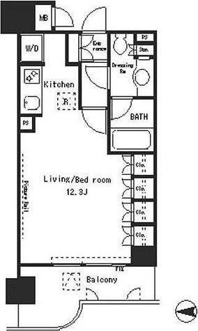 パークアクシス四谷ステージ / 1R(32.78㎡) 部屋画像1
