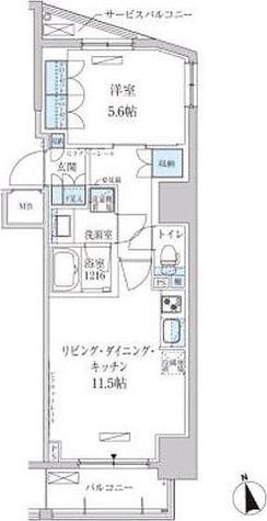パークアクシス東上野 / 1階 部屋画像1
