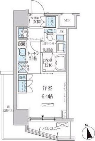 パークアクシス東上野 / 1K(25.58㎡) 部屋画像1