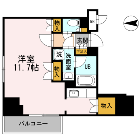 カスタリア栄 / ワンルーム(35.64㎡) 部屋画像1