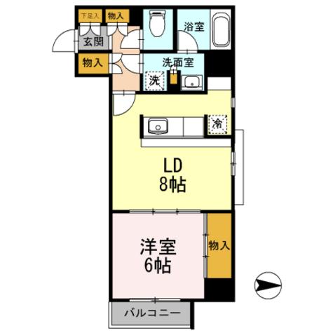 カスタリア栄 / 1LDK(45.16㎡) 部屋画像1