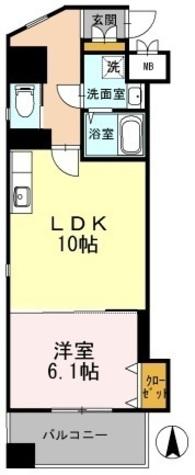 カスタリア志賀本通 / 1LDK(41.85㎡) 部屋画像1