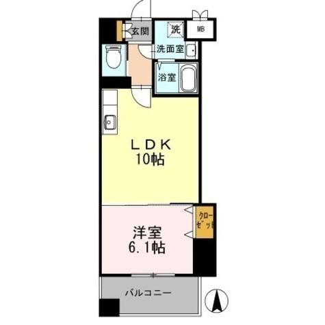 カスタリア志賀本通 / 1LDK(37.71㎡) 部屋画像1