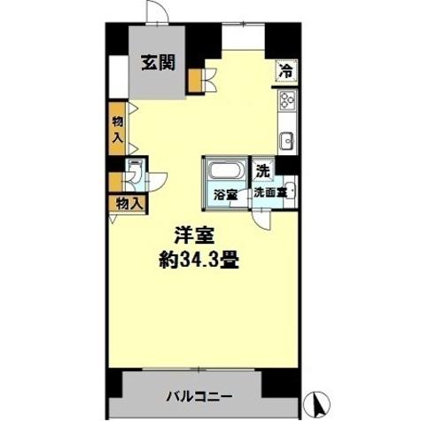 カスタリア伏見 / ワンルーム(78.50㎡) 部屋画像1