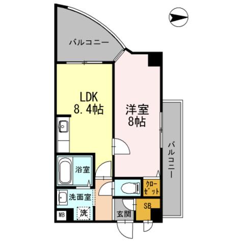 カスタリア新梅田 / 1LDK(40.28㎡) 部屋画像1
