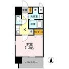 カスタリア新梅田 / ワンルーム(25.53㎡) 部屋画像1