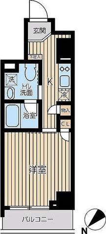 蔵前 3分マンション / Dタイプ(26.84㎡) 部屋画像1