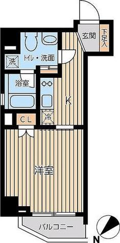 蔵前 3分マンション / Eタイプ(30.53㎡) 部屋画像1