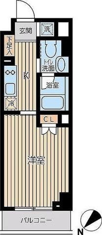 蔵前 3分マンション / Cタイプ(29.34㎡) 部屋画像1